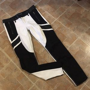 Express black and white skinny jeans size women 4